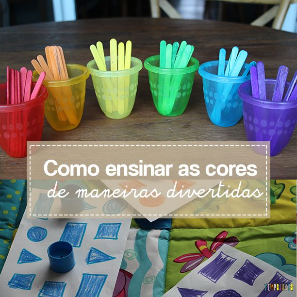 Maneiras divertidas de ensinar as cores