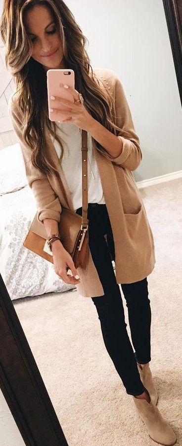 #summer #trendy #outfits  |  Tan + Black and White