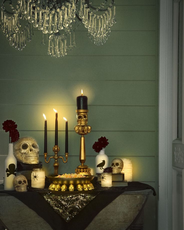 Halloween Decorations - Make Your Halloween Grown Up and Glam. Halloween decorations don't have to be cheesy for kids. You can host your own Halloween party for adults and keep it chic. Check out some of our favorite tips for hosting an adult Halloween party at redbookmag.com!