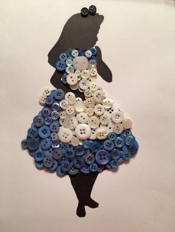 Disney Alicia en el país de las maravillas botón silueta inspirada en arte M.T.O. sin enmarcar. | Hogar y jardín, Decoración para interiores, Otros en decoración para interiores | eBay!