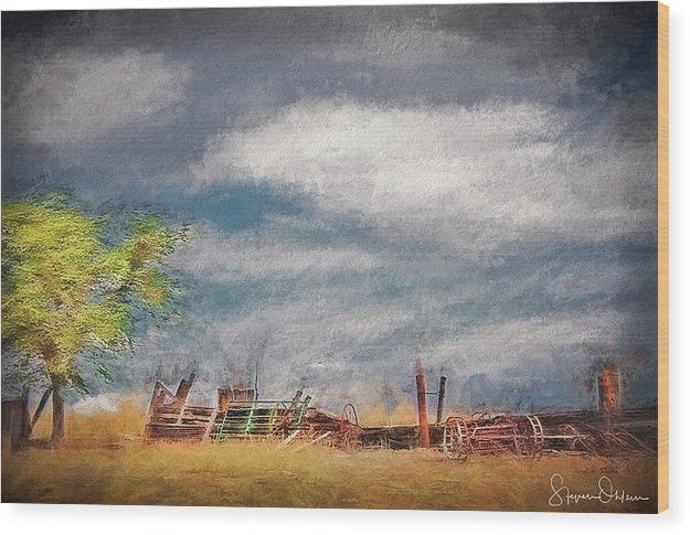 Old Farm Equipment - Antelope Island - Signed Limited Edition - Wood Print