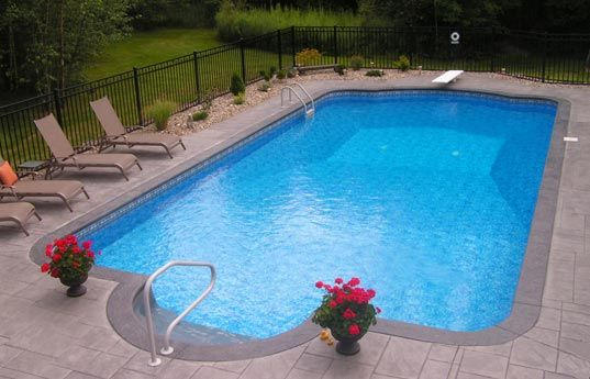 25 best ideas about vinyl pool on pinterest inground for Pool design basics