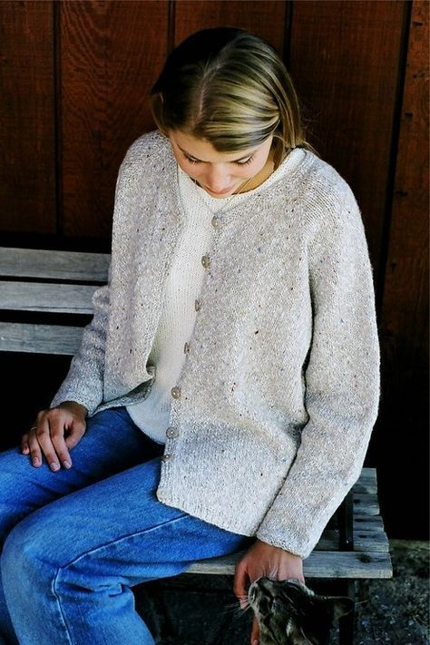 Knitting Pure And Simple Diane Soucy V Neck Neckdown Cardigan For