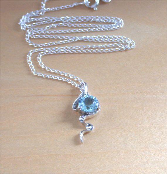 925 Blue Topaz Pendant