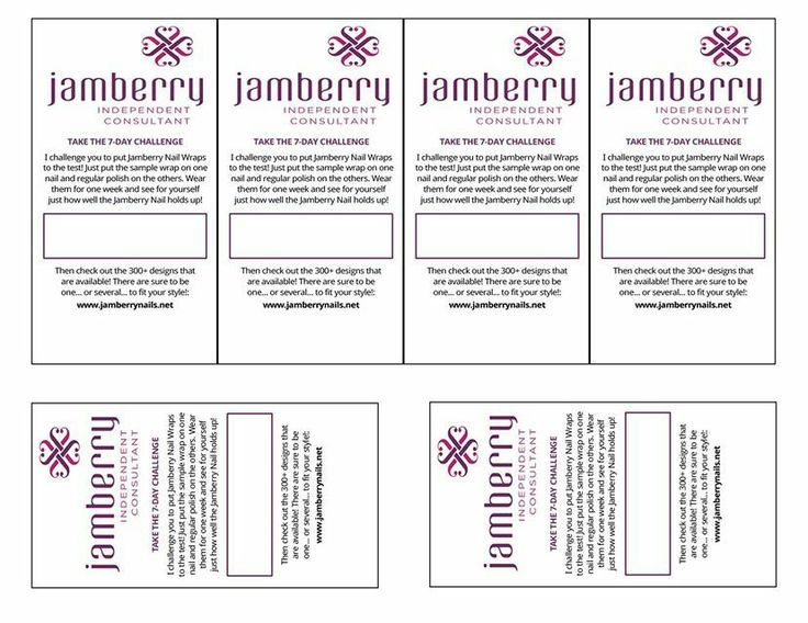 Jamberry 7 day challenge template - Samples www.pumpkinspice.jamberrynails.net