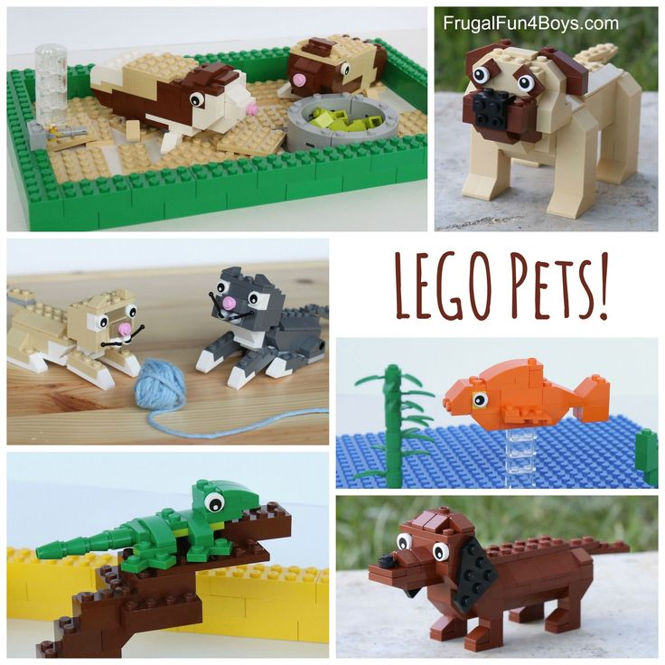 LEGO Pets Building Instructions! Build dogs, cats, guinea pigs, and more!