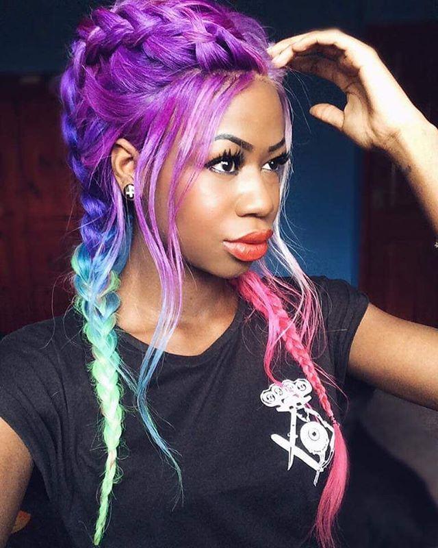 "@thehotcocoa wearing our ""Murderous"" Women's Tee - available at www.crmc-clothing.co.uk | WE SHIP WORLDWIDE #vixen #raindowhair #pastelhair #alternative #pastelgoth #fashionstatement #pastelgothgirl #hairenvy #fashionista #pastelgothic #rainbow #alternativeblackgirl #blackmodel #blackgirlsrock #beautifulblackwomen #cute #instacute #beautiful #dailyfashion #styles #style #alternativegirl #alternativeteen #alternativeboy #instagrammers #instalike #instalove #igers #love #instagood"