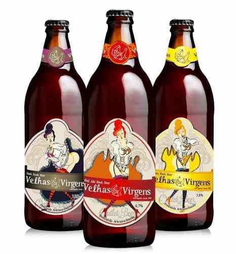 cerveja velhas virgens combo - 3 estilos = 3x 600ml.