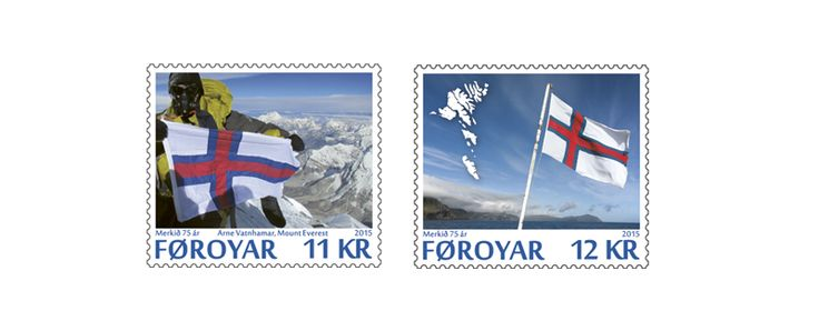COLLECTORZPEDIA: Faroe Islands Stamps 75th Anniversary of The Faroese National Flag