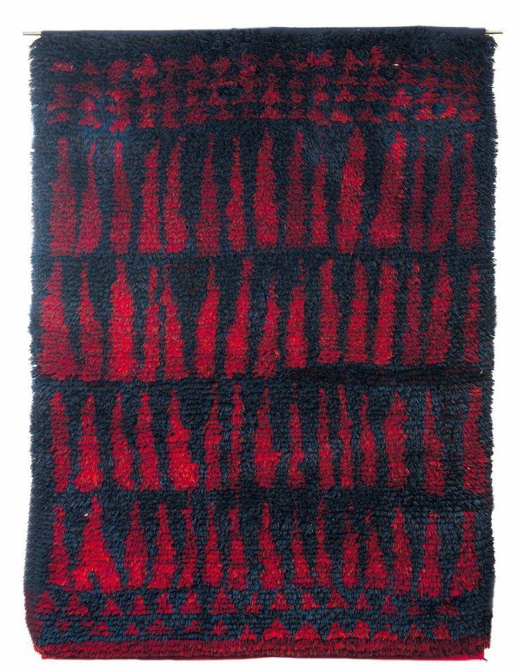 Lotta Ring; Wool 'Lapin Joiku' Rya Rug, c1955.