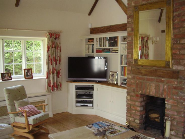 TV And Family Room Bookcases Media Units Satellite Broadband Equipment Can Be Hidden Away Behind Doors Or On Display