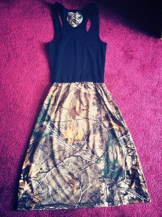 Camo Tank Dress Read description by SmallTownGal2013 on Etsy