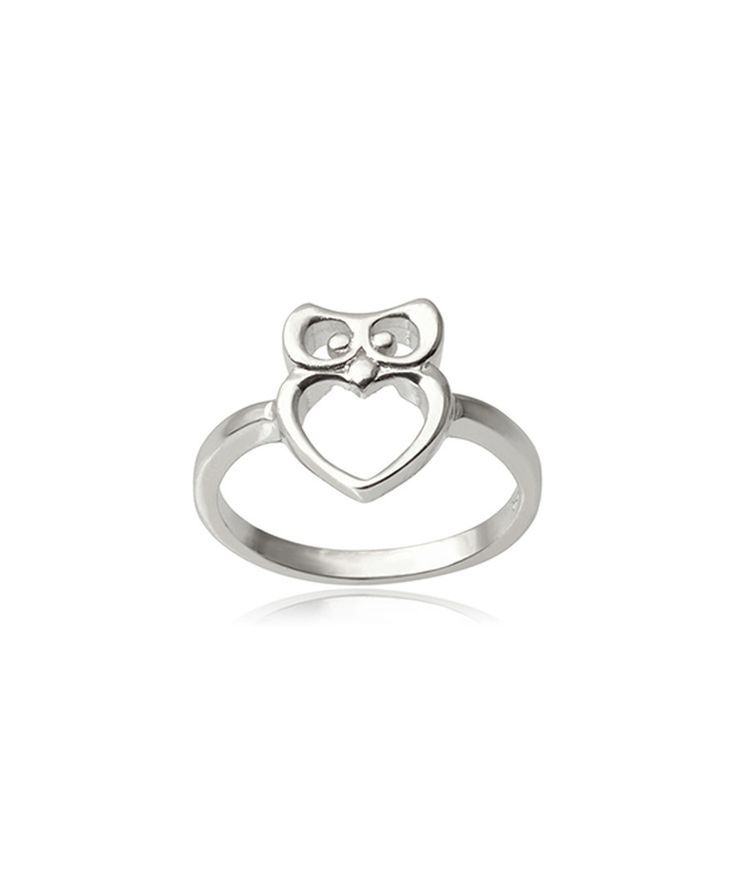 Look at this Sterling Silver Owl Ring on #zulily today!