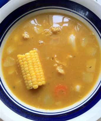 Jamaican conch soup #recipe (So many things to leave out to be AIP compliant, but this gives me the idea of the recipe)