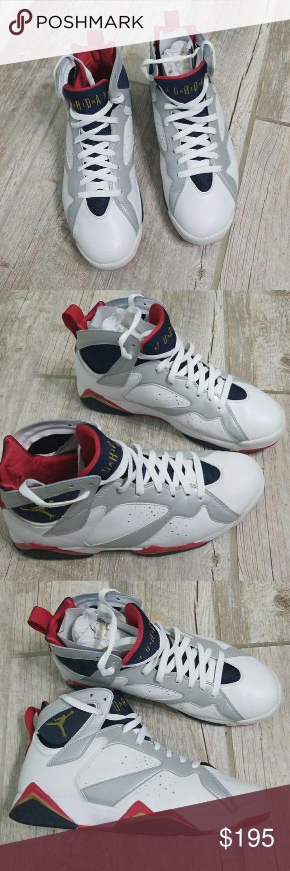 Jordan's 7 retro Jordan Olympic 7 gently used worn 3 times small scuff marks shown in pic original box. authentic Jordan's *No trades* Jordan Shoes Sneakers