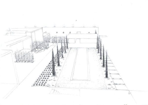 Zen/ Contemporary Gardens - Sketches Portfolio by Silvia Sacramento, via Behance