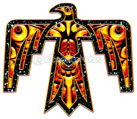 Sacred Thunderbird - native american symbol — Stock Photo ...