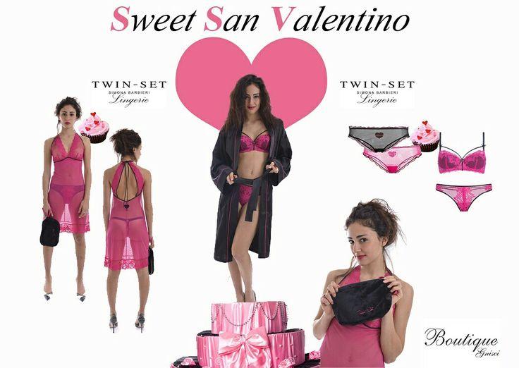 💓Sweet San Valentino💓  #intimognisci #sanvalentino #intimo #vestaglia #sottoveste #beauty  #Twinset #love #pink #black #luxorylingerie #luxorylife #luxorysale  #saldi #sweet #intimosexy Shop on Line www.boutiquegnisci.com