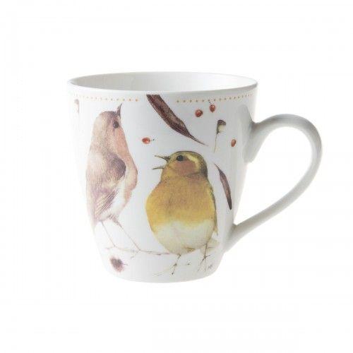9.99€ - Natuurpunt.be - Mok Tas XL roodborst Marjolein Bastin / Mug cup birds illustration