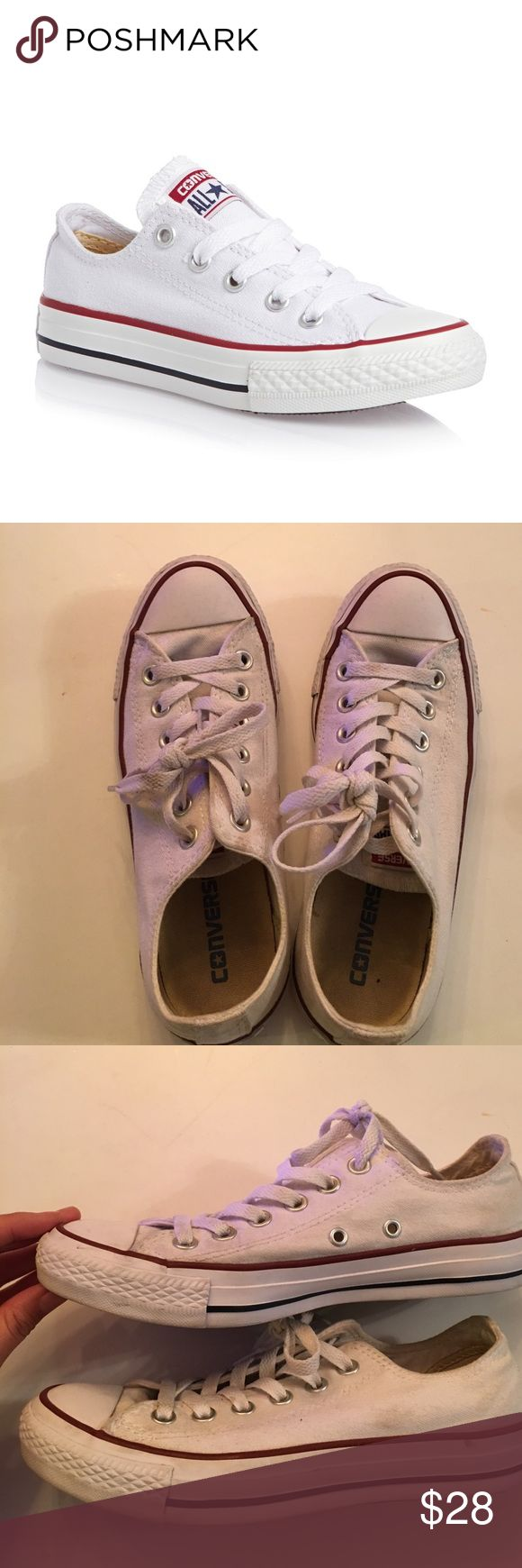 CONVERSE Classic All Stars White Sneakers Shoes Classic white converse in good pre-owned condition. Converse Shoes Sneakers