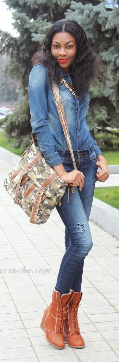 Casual Denim On Denim Outfit   http://www.modavracha.com/2013/12/casual-denim-on-denim-outfit.html