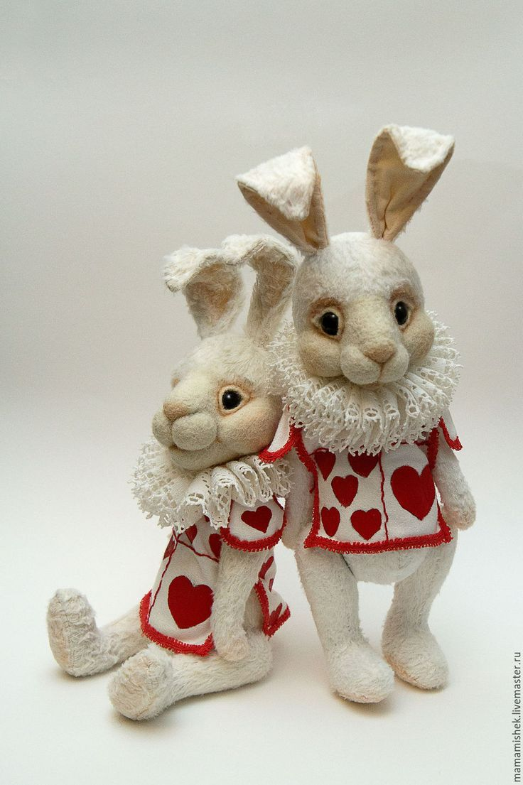 Купить Белый кролик - белый, кролик из Алисы, кролик, игрушка заяц, интерьерная игрушка, белое