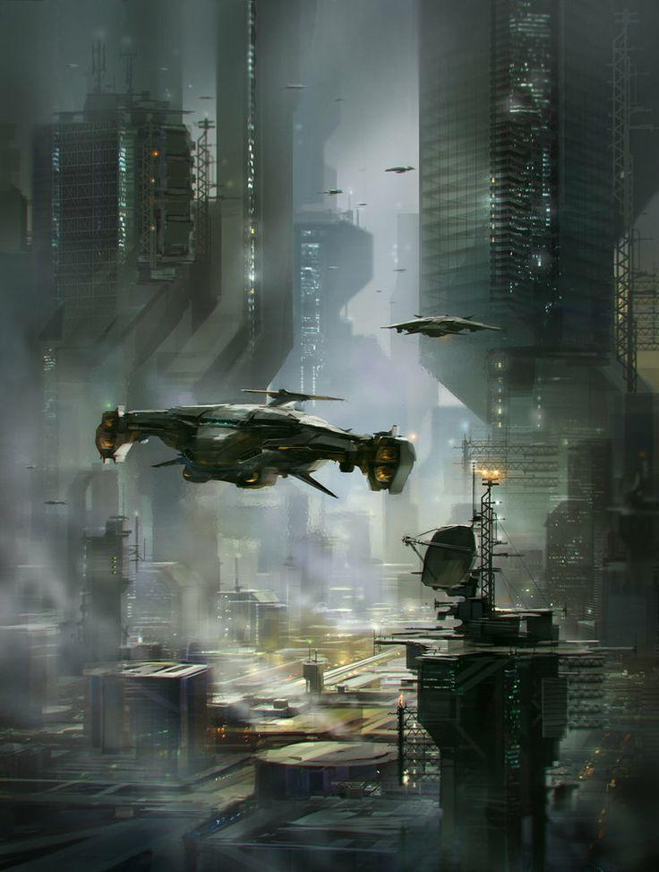 Sci-fi city by alex-ichim