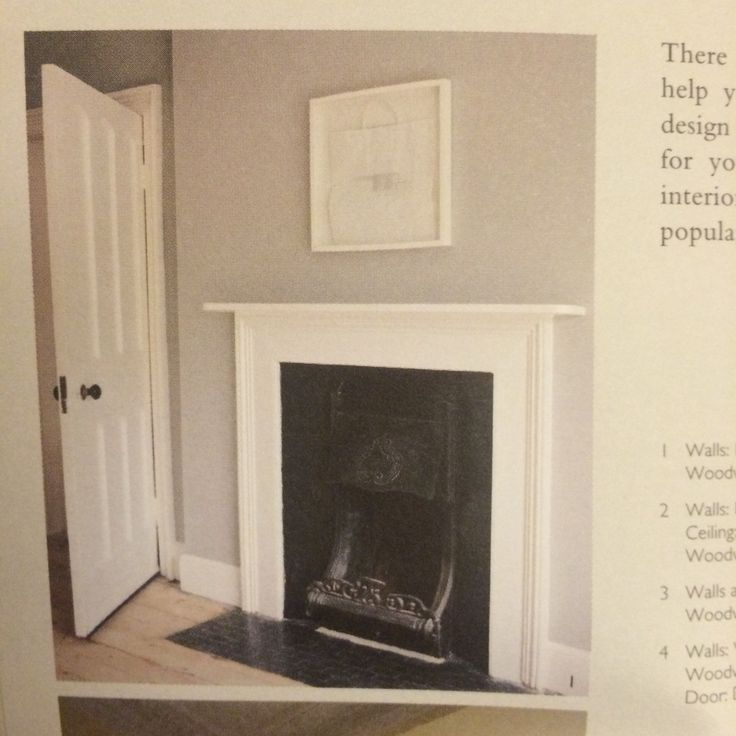 Farrow & Ball - Lamp Room Grey Eggshell for fireplace