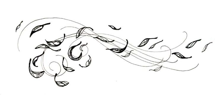 Gallery For > Leaves Blowing In The Wind Drawing