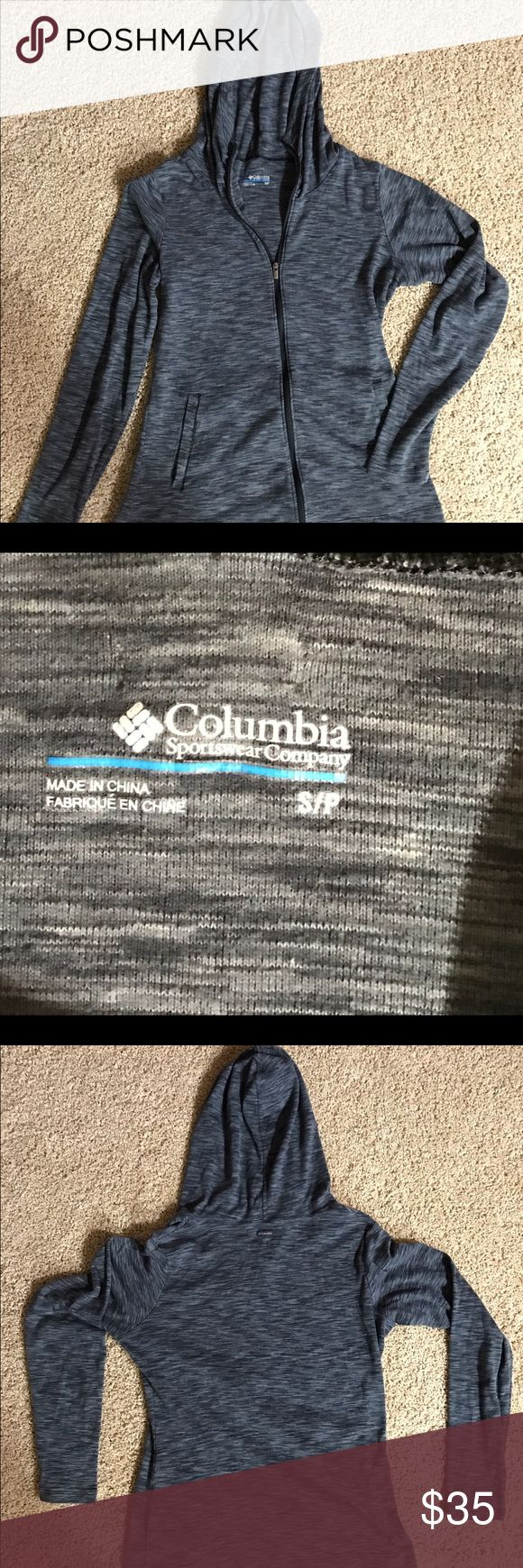 Columbia sportswear women's zip up, size small Columbia sportswear women's zip up workout Jacket, or just to wear! In great condition worn twice. Columbia Tops Sweatshirts & Hoodies