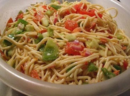 Cold Spaghetti Salad Recipe