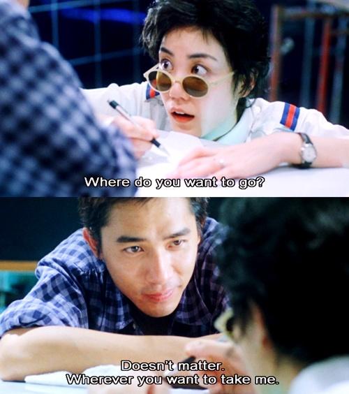 """Faye Wong and Tony Leung in """"Chungking Express"""" by Wong Kar Wai"""