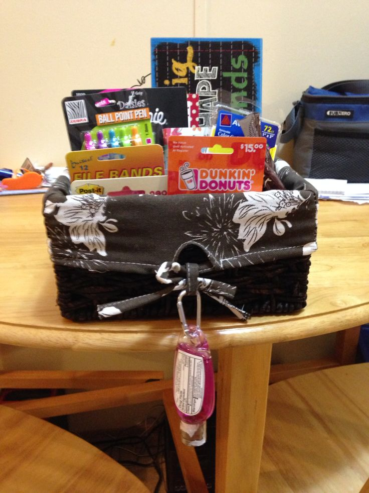 Gift basket I made for my cooperating teacher on my last day of student teaching!