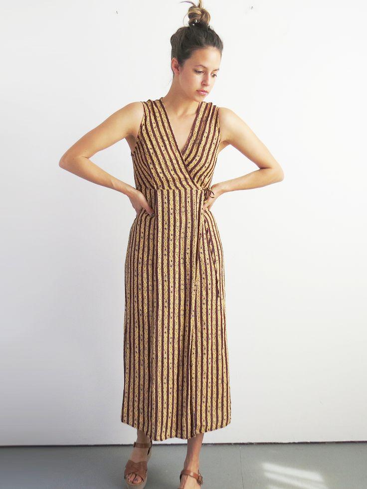 Aztec Print Wrap Dress // Vintage 1990's Wrap Dress SOLD