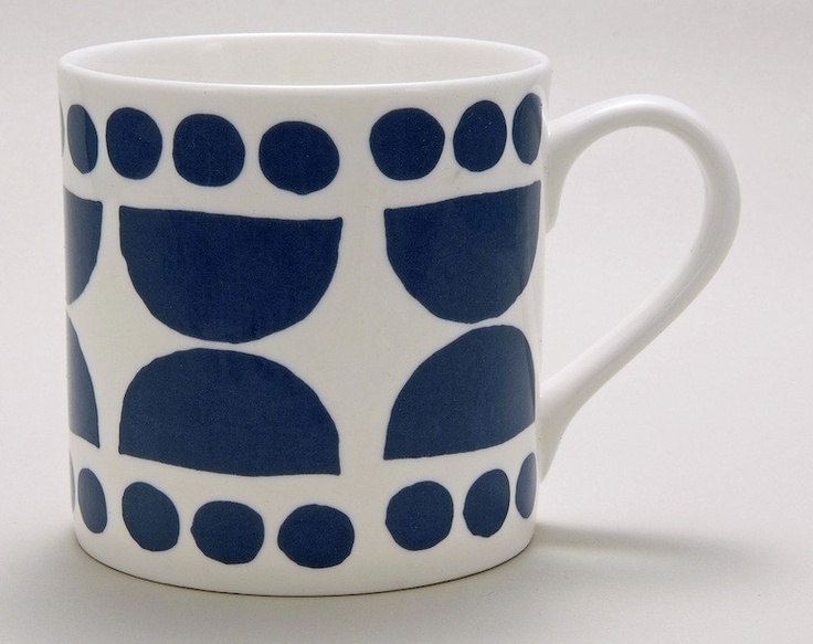 I like dark french roast. Lotta Jansdotter porcelain mug