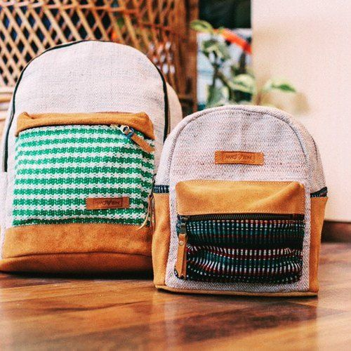 Curtesy of our supplier WSDO ; these are #handmade #wovenbackpack straight from #nepal .  Check #kaaya if you liked it.