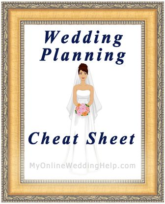Wedding Planning Cheat Sheet | #myonlineweddinghelp