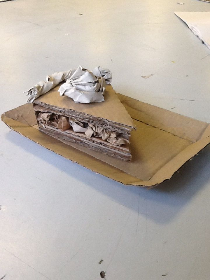 Year 9/8th grade Cardboard food sculptures in the style of Patianne Stevenson.