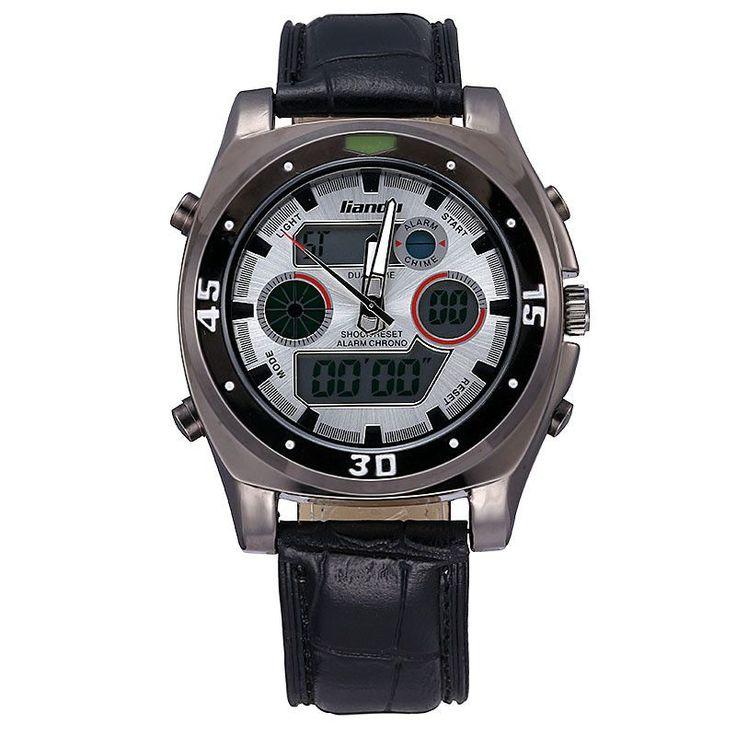 LIANDU Watches Relogio Masculino Car-Styling Watch Digital LED Men Top Brand Luxury Chronograph Barcelona Sports Running Relogio