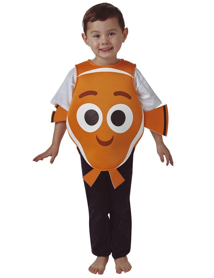 Disfraz de Nemo™ niño - Buscando a Dory™: Este disfraz de Nemo para niño tiene licencia oficial Buscando a Dory™.Incluye túnica que representa al pez payaso.La túnica es de gomaespuma naranja y blanca con detalles...