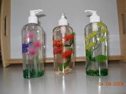 add faux flowers to liquid hand soap (looks very neat and could be made to match any decor for sure!!): Housewarming Gift, Martha Stewart, Didnt, Lego