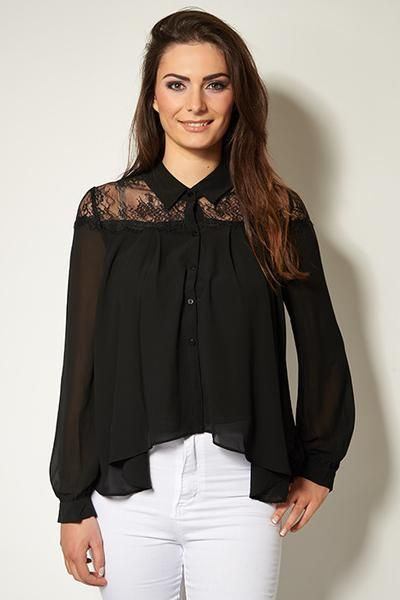 SLASHED Immy black lace insert shirt now just £19.99! https://www.havetolove.com/collections/sale/products/immy-white-lace-smock-blouse Get yours now! #sale #NEfollowers #slashed #discount #summer