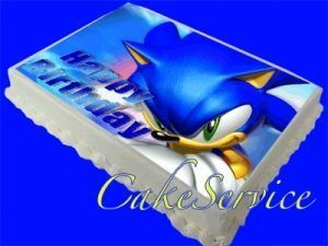SONIC THE HEDGEHOG PERSONALIZED PHOTO BIRTHDAY CAKE ICING TOPPER