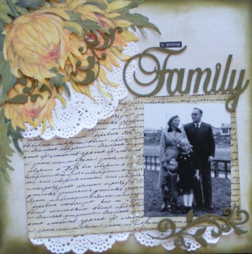 Family page created by Barb for My Scrappin' Shop.