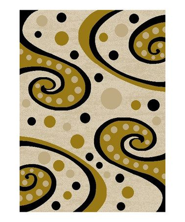 Love this Tone Swirly Rug on #zulily! #zulilyfinds