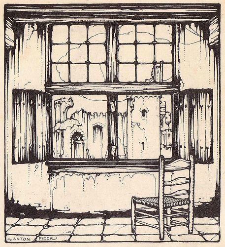 Anton Pieck interior from 1926, via Flickr.