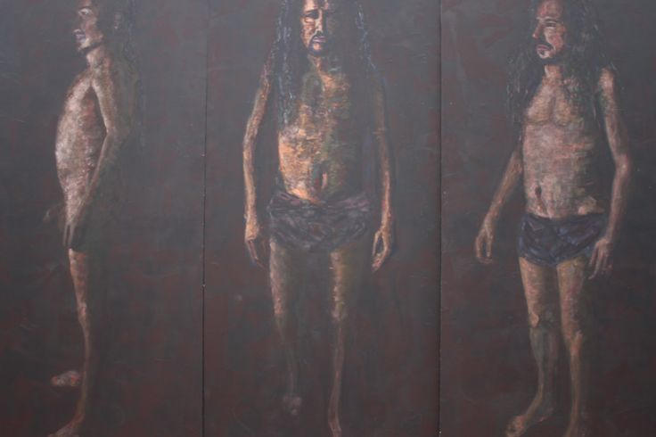 a. de C. Acrílico sobre Madera 170x80 cm c/u