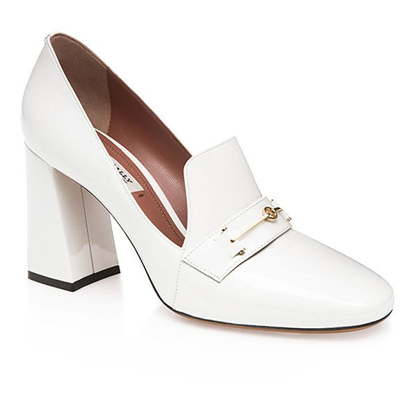 Bally Lisina Pump (2.805 RON) via Polyvore featuring shoes, pumps, white, bally shoes, retro style shoes, white shoes, bally footwear and retro shoes