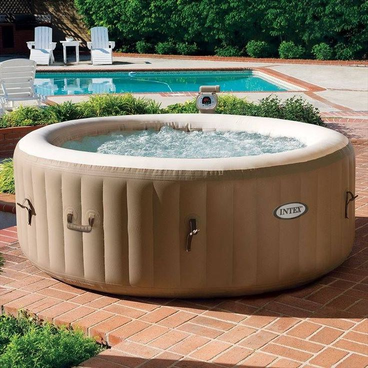 Opblaasbare 4-Persoons PureSpa Bubble Massage (Ø:196cm, H:71cm) (Intex) #bubbelbad #bubbelbaden #spa #jacuzzi