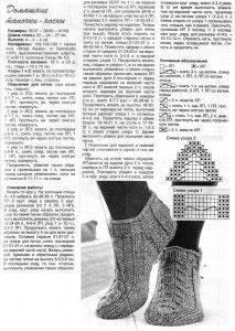 Домашние тапочки носки спицами